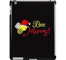 Bee Merry Christmas Holiday Bumblebee Santa  iPad Case/Skin