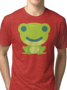 Frog Emoji Happy Smile Look Tri-blend T-Shirt