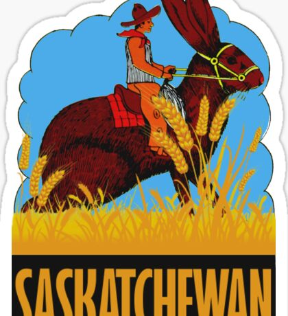 Saskatchewan Canada Vintage Travel Decal Sticker