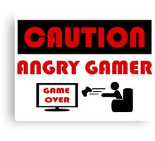 Angry Gamer - Gamer - Programmer Canvas Print