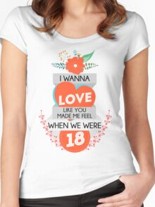 One Direction: Four - 18 Women's Fitted Scoop T-Shirt
