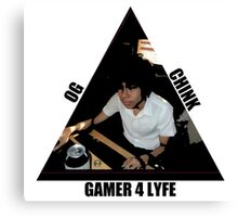 OG CHINK GAMER FOR LYFE Canvas Print