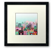 Paper town Framed Print