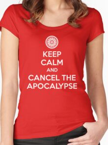 Keep Calm and Cancel the Apocalypse Women's Fitted Scoop T-Shirt
