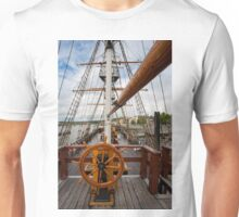 Ship's Wheel, The Dunbrody famine ship, New Ross, Co. Wexford, Ireland Unisex T-Shirt