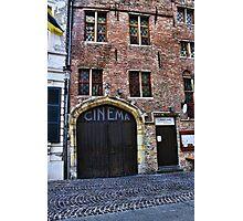 Bruges Vintage Cinema  Photographic Print