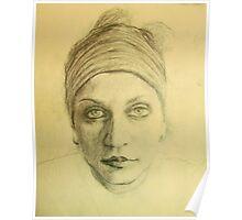 Esquisse for portrait of Hrisa #2 Poster