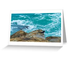 willy wag by the sea Greeting Card
