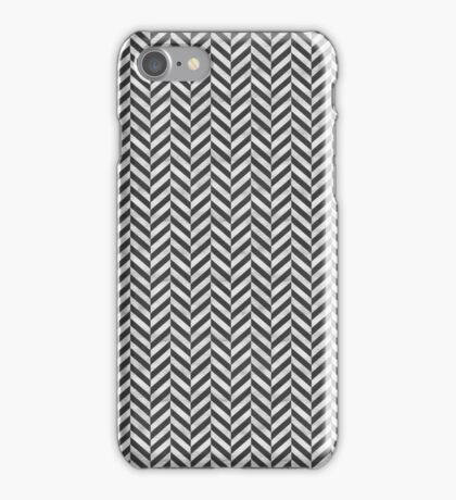 grey herringbone iPhone Case/Skin