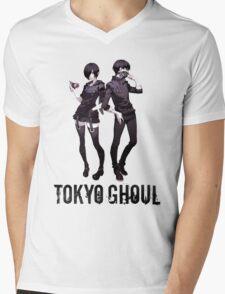 Anime: TOKYO GHOUL - Kaneki & Touka Mens V-Neck T-Shirt