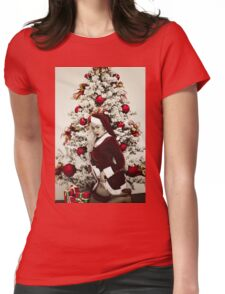 Naughty or Nice? Womens Fitted T-Shirt
