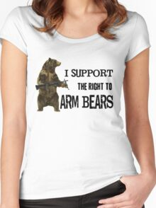 I Support the Right to Arm Bears, Grizzly Bears Women's Fitted Scoop T-Shirt