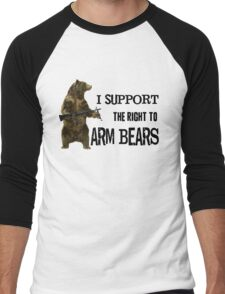 I Support the Right to Arm Bears, Grizzly Bears Men's Baseball ¾ T-Shirt