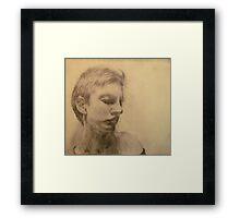 Esquisse for portrait of Clara #4 Framed Print