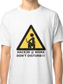 Hacker at work Classic T-Shirt