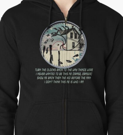 Coheed and Cambria- Eraser lyrics Design Zipped Hoodie