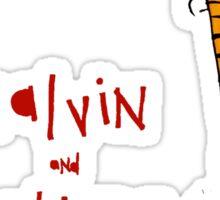 Calvin & hobbes funny  shirt   Sticker