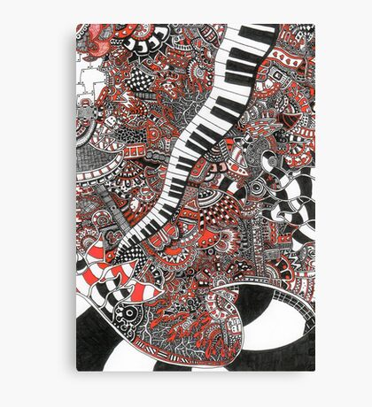 The piano has been drinking - 1 Canvas Print