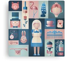 Alice in Wonderland Graphic Canvas Print