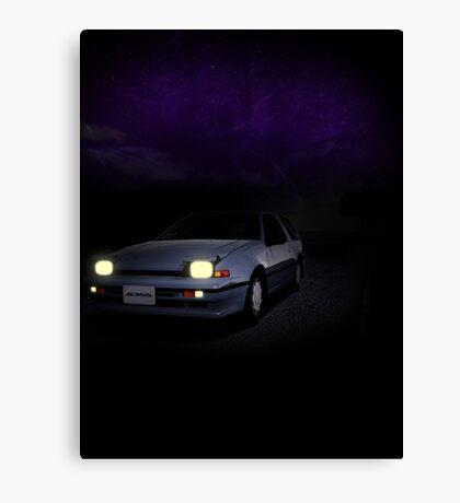 Night Nissan N13 EXA Canvas Print