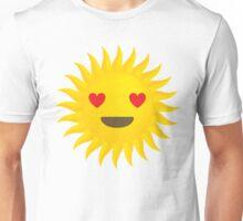 Sun Emoji Heart and Love Eyes Unisex T-Shirt