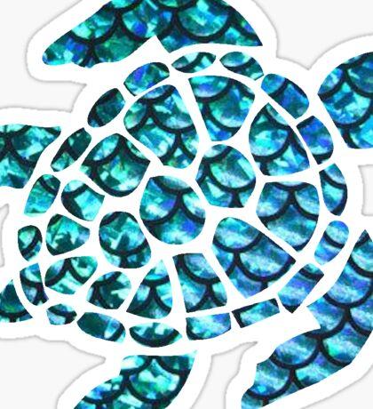 Blue Sea Turtle  Sticker