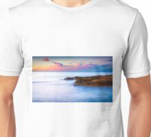 Rocks and pink clouds Unisex T-Shirt