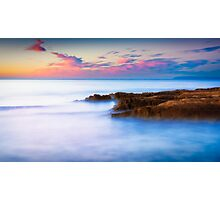 Rocks and pink clouds Photographic Print