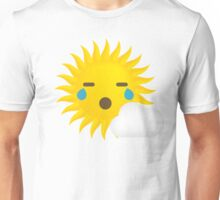 Sun Emoji Teary Eyes and Sad Look Unisex T-Shirt