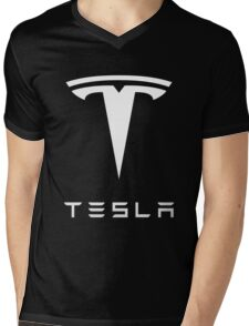 tesla the electric Mens V-Neck T-Shirt