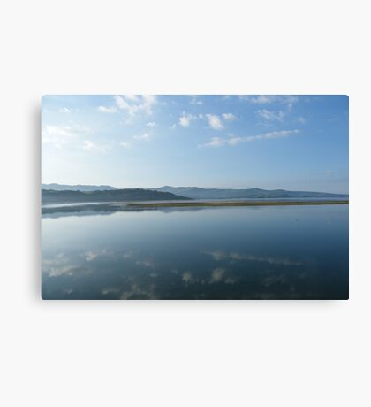 Mirror image at dawn Canvas Print
