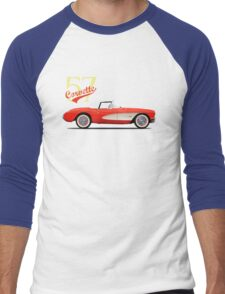 The 1957 Corvette Men's Baseball ¾ T-Shirt