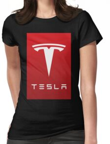 tesla the electric Womens Fitted T-Shirt