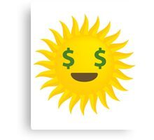 Sun Emoji Money Face Canvas Print