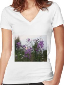 Willow-herb Women's Fitted V-Neck T-Shirt