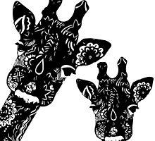 Zentangle Giraffes by jaimeeannd