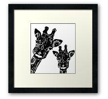 Zentangle Giraffes Framed Print