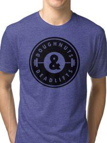 Doughnuts Deadlifts  Tri-blend T-Shirt