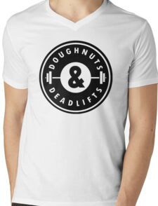 Doughnuts Deadlifts  Mens V-Neck T-Shirt