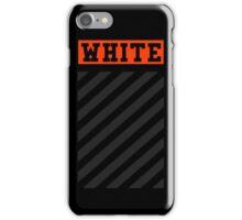 Off White Logo in Orange (Black) iPhone Case/Skin