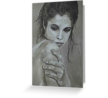 Sultry - female portrait Greeting Card