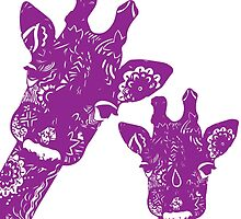 Purple Giraffes by jaimeeannd