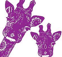 Purple Giraffes by XENJA DESIGN