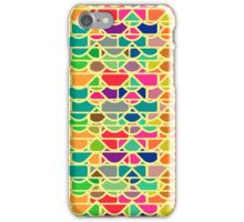 Colorful waves and bricks iPhone Case/Skin