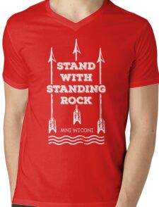 I Stand With Standing Rock Mens V-Neck T-Shirt