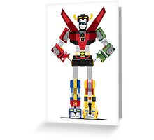Funny Voltron Greeting Card