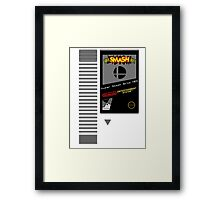 Nes Cartridge: Super Smash Bros Framed Print