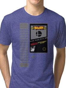 Nes Cartridge: Super Smash Bros Tri-blend T-Shirt