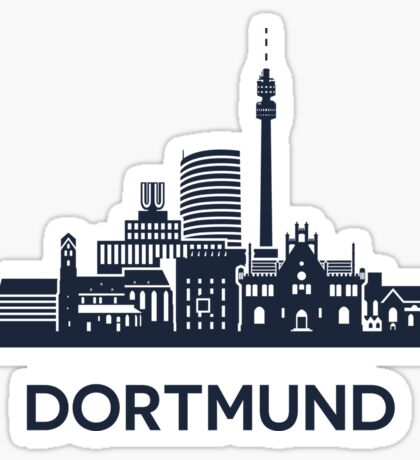 Dortmund Skyline Emblem Sticker