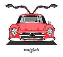 Mercedes-Benz 300 SL (W198) (red) Photographic Print